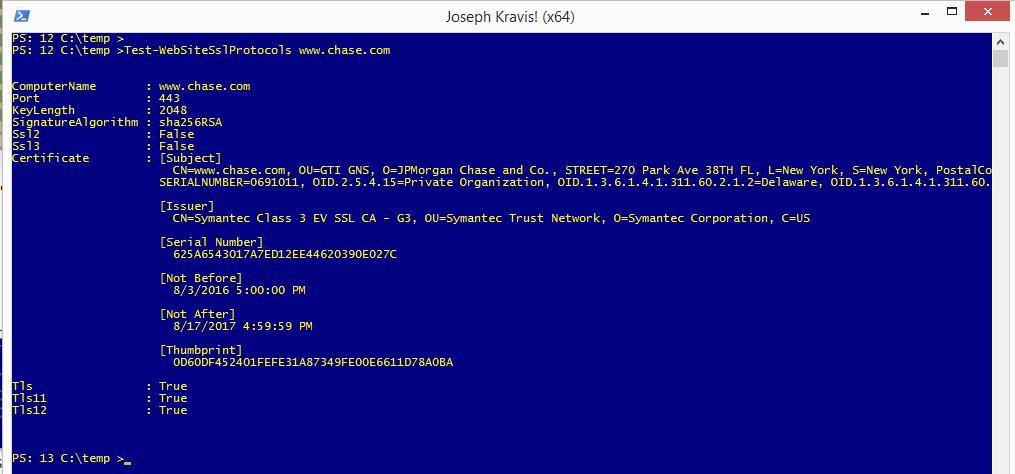 Certificate Test Website Ssl Protocols Perspective Joseph Kravis